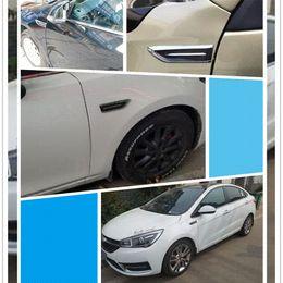 Fiber Engine Australia - 1 Pair Shark Gills Car Decorated 3D Vent Air Flow Fender Sticker Decal Automobile Engine Cover Side Stickers