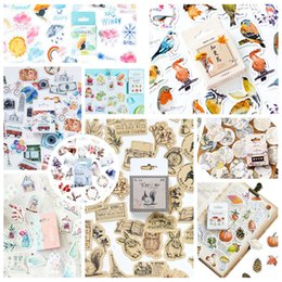 stamp paper sticker Australia - crapbooking & Stamping 46pcs pack Hot sale Cute Animals Stickers Paper Kawaii Bird Weather Stickers Decoration Diary Scrapbooking Sc...