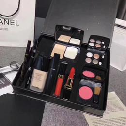 Kitchen liner online shopping - Brand Makeup Set in Eyeshadow Palette Powder Foundation ml Lipstick Lipgloss Eyebrow Eye Liner Pen Blush Mascara Gift for Women