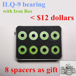 16 pieces Inline Skates Bearing Durable ILQ-9 Pro Dual Line Roller Skate Shoes Skateboard High Speed Skating 608 Box Case Spacer on Sale