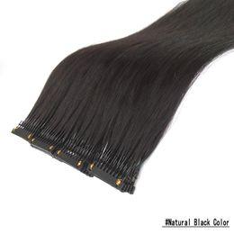 Venta al por mayor de Clip mujeres 6D Pre Bond extensión del pelo humano extensiones del cabello Para 6D Máquina No Trace Conectado pelo sin procesar Negro Marrón Rubio Vino Tinto
