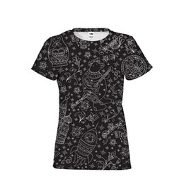 b693db9014478 Muñeca rusa Matryoshka gótica Cool Girl Mujer Marca Ropa Camisetas Top Tees  Camisas de mujer de manga corta Recortadas