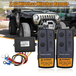 $enCountryForm.capitalKeyWord NZ - 2.4g 12v Digital Wireless Winches Remote Control Recovery Kit For Jeep Suv J190523