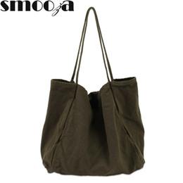 $enCountryForm.capitalKeyWord Canada - SMOOZA Women Casual Canvas Handbag Totes 2019 New Large Capacity Ladies Shopping Bags Teenage Girls School Book Shoulder Bags