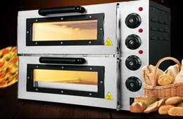 venda por atacado Forno de dupla camada Forno a gás de aquecimento elétrico comercial Bolo de pão de pizza de duas camadas Forno elétrico de larga escala grande capacidade LLFA