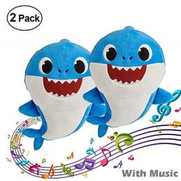 $enCountryForm.capitalKeyWord NZ - 12inch BABY SHARK Plush Toys 30CM 3 Colors 9 STYLES Music English Songs Shinning&Singing 12'' Stuffed&Plush Dolls Music&LED Brighting 2PCS