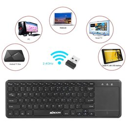android tv box touchpad Australia - 2.4GHz Wireless Touch Keyboard with Touchpad Remote Control for Android TV BOX Notebook Laptop Smart TV Tablet PC