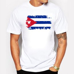 White Shirts Styles Designs For Men Australia - Cuba Fans Cheer Tshirts For Men Cuba National Flag Design Tee Shirts Short Cotton T-shirts Nostalgic Style Summer Top