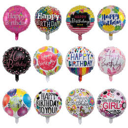 Happy Birthday Party Decoration Balloons Australia - 1pc New 18inch Round Happy Birthday Foil Balloon Birthday Party Decoration Adults Inflatable Air Balloons Kids Ballons