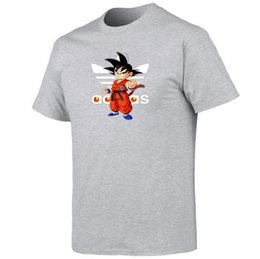 Wholesale Men Women T Shirt Dragon Ball Z T Shirt Goku DBZ Anime Top Tees Insaiyan Cotton Clothing Casual Boy Graphic Basic Soft