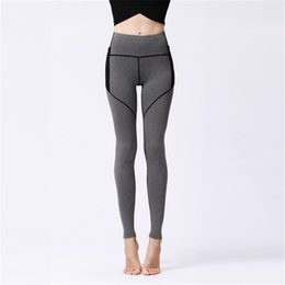 Womens Tight Yoga Pants UK - Womens Sport Yoga Pants Side Pockets High Waisted Workout Leggings Fitness Tights Sexy Skinny Pants Riding Running Dance Trousers Sweatpants