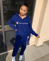 $enCountryForm.capitalKeyWord Australia - 2019 Autumn New Product Women Fashion pullover sport Set Ladies Sexy casual wear Colour printed casual Two-piecee sets hooded tracksuits