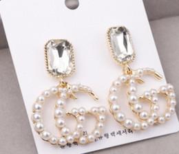 Vente en gros Vente chaude 925 Argent Empêcher les allergies De Luxe Conception de mode de Bijoux Bijoux Lettre Boucles d'oreilles pour les Femmes Filles De Mariage Cadeau Stud
