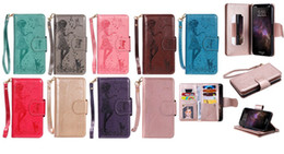 $enCountryForm.capitalKeyWord Australia - Multifunction Leather Wallet Case For Iphone 11 XS MAX XR Galaxy Note 10 Pro 9 (J3 J4 J6 A6)2018 9Cards Mirror Girl Lady Flip Cover Flower