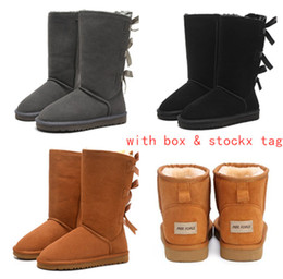 Cowhide snow boots online shopping - 2019 Australia Women Snow Boots Genuine Cowhide Leather Ankle Boots Warm Winter Boots Woman shoes large size