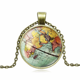 $enCountryForm.capitalKeyWord Australia - 2019 New Hot DIY Globe Dome Necklace Earth Pendant Glass Chain Jewelry New York Map Handmade Necklace Women Gifts