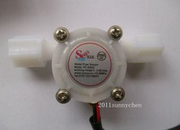 Water Flow Counter Sensor Australia - Wholesale 10 pcsG1 4inch 0.3-3L min Water Coffee Flow Hall Sensor Switch Meter Flowmeter Counter