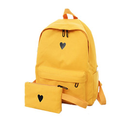 $enCountryForm.capitalKeyWord UK - 2019 High Quality Canvas Printed Heart Yellow Backpack Korean Style Students Travel Bag Girls School Bag Laptop Backpack Y234 #172754