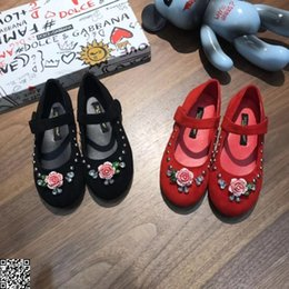 $enCountryForm.capitalKeyWord Canada - Girl princess shoes kids designer shoes autumn diamond flowers black and red two color Eur size 26-35
