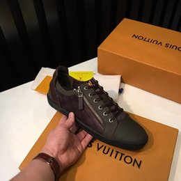 solid rubber plates Canada - 2020 mens running shoes top quality Leather zipper design outdoor jogging walking trainers Plate-forme luxury brands casual shoes#2F