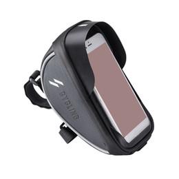 Segurança de armazenamento de bicicleta de montanha de bicicleta de navegação à noite à prova d 'água ciclismo acessórios telefone titular 6.0 polegadas tela