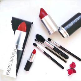 $enCountryForm.capitalKeyWord NZ - new Makeup Brand Look In A Box Basic Brush 4pcs set brushes set with Big Lipstick Shape Holder Makeup TOOLS good item