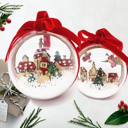 $enCountryForm.capitalKeyWord Australia - 2PCS Clear Christmas Balls Ornaments 6cm Snowing Inside Xmas Tree Snowman Hanging Decoration Props Home New Year Party Ornament