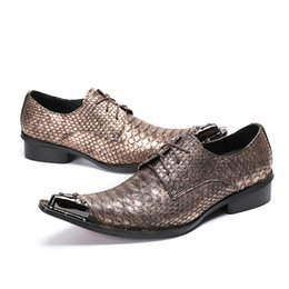 Shoes Snake Skin Shoes Men Glossy Patent Leather Height Increasing Male Footwear Italian High Heels Dress Brogue Oxford Shoes For Men