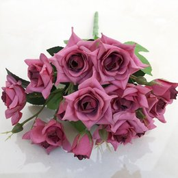 $enCountryForm.capitalKeyWord Australia - Great Cheap 10 15 heads French Rose Floral Bouquet Fake Silk Flower Arrange Table Rose Wedding Decoration Flowers Decor