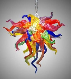 pendant lamp hallway light NZ - Colorful Murano Glass Chandelier LED Hand Made Glass Art Chandelier Lamp Mini Cute Wholesale Pendant Light for Hallway Living Room Bedroom