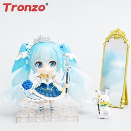 Chinese  VOCALOID Hatsune Miku Nendoroid #1000 Snow Miku Rabbit Yukine Princess PVC Action Figure Model Doll Toys For Christmas manufacturers