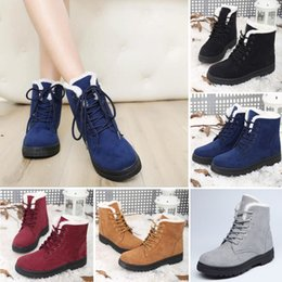 $enCountryForm.capitalKeyWord Australia - Hot Sale-r Warm Casual Faux Suede Fur Lace-up Ankle Boots snow boots women Fashion Boots US Size4.5-10