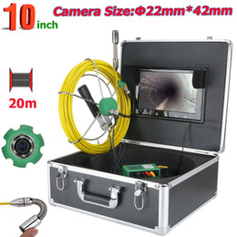 Sewer cameraS online shopping - Pipe Inspection Video Camera M IP68 Waterproof Drain Pipe Sewer Inspection Camera System inch with W LED Lights Camera