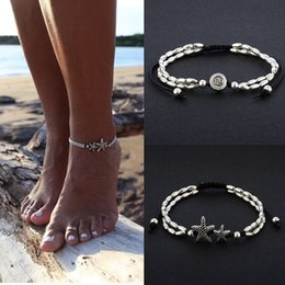 Runes jewelRy online shopping - Bohemian Multi Layer Rune Starfish Women s Anklet Foot Bracelet Barefoot Sandals Chain Strap Beach Accessories Jewelry For Women