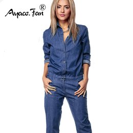 Jeans Women Overalls Straps Jeans Female Basic Classic Pencil Blue Casual Pocket Denim Pants Rompers Jumpsuit Jeans 2019 Spring Women's Clothing