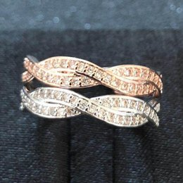 $enCountryForm.capitalKeyWord NZ - designer jewelry 18k gold plated rings twine zircon rings double row simple rings for women hot fashion
