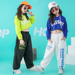 $enCountryForm.capitalKeyWord Australia - Kid Hip Hop Hoodie dancing Clothing Outfits Casual Pants Oversized T Shirt Tops for Girls Dance Costume Ballroom Outfits