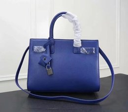 Blue Box Plain Australia - plain hot selling excellent quality real leather brand designer shoulder bag for women without box free shipping
