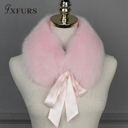 Purple Fur Scarf Australia - FXFURS 2018 New Fashion 100% Real Fox Fur Collar Scarves Wraps Women Winter Warm Fur Accessory Muffle Lovely Collar for Girl D19011004