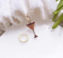 $enCountryForm.capitalKeyWord NZ - luxury jewelry S925 sterling silver needle earrings Wine glass shape Asymmetrical charm stud earrings for women hot fashion