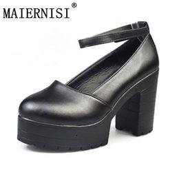 7d69387d 2019 Factory Outlet Big Spring Calzado para damas Tacones gruesos  ocasionales Zapatos de plataforma para niñas Europa Mujeres Tacones Hihg Zapatos  Bombas