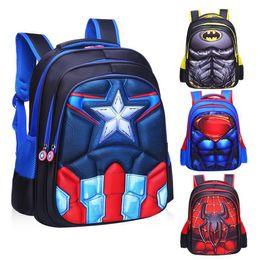 $enCountryForm.capitalKeyWord Australia - Children's Backpack Boys Captain America School Bags For Boys Girls Children Primary Students Superhero Backpacks 4 Styles Y19061102
