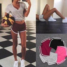 Wholesale 2019 New Fashion Womens Summer Shorts Casual Sports Yoga Shorts and Beach Pants with Colors Size S XL