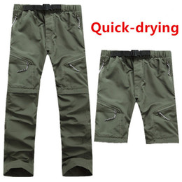 $enCountryForm.capitalKeyWord Australia - Men's Quick Dry Outdoor Trousers Detachable Male Summer Breathable Hunting Hiking & Camping And Pants S-xxxl 4 Colors C19041201