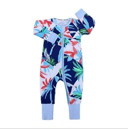 $enCountryForm.capitalKeyWord Australia - 2019 Ins Baby Boy Girl Romper Clothing Lovely Bamboo Leaves Print Cotton Jumpsuit For Kid Infant One Piece Clothes Newborn Pajamas Costume