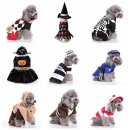 $enCountryForm.capitalKeyWord Australia - 18 Designs Pet Dogs Costumes for Christmas Halloween Santa Claus Pumpkin Clothes Puppy Dog Party Apparels Pets Coats Outerwears