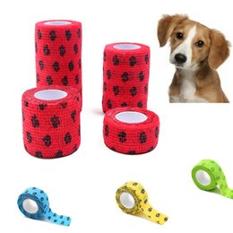 feet first shoes NZ - Pet Medical Bandage First Aid Paw Bandage Adhesive Elastic Bandages Self Adhesive Protective Foot Breathable Tape Accessory