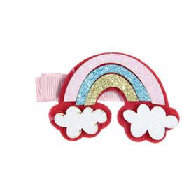 $enCountryForm.capitalKeyWord UK - Unicorn Barrettes Sequins Rainbow Hair Clip Accessories Baby Girls Colors Mix Various Styles Fashion 1 49nx F1