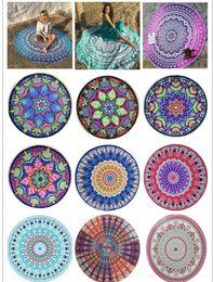 $enCountryForm.capitalKeyWord Australia - Indian Mandala Beach Towel Round Beach Blanket Microfiber Printing Tapestry Bath Towels Yoga Mat Summer Picnic Rug 12 Designs 140cm