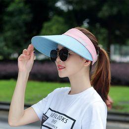 Large bLack fLoppy sun hat online shopping - Summer Women Wide Large Brim Floppy Beach Sun Panama Hat Caps Cotton For Women UV protection Visor Cap Female Gorra